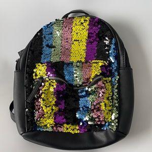Omg Rainbow Sequin Mini Backpack